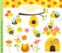 Bumblebee clipart cute flower