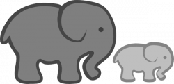 Larger clipart baby elephant