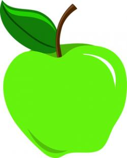 Small clipart green apple