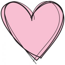 Funky clipart pink heart
