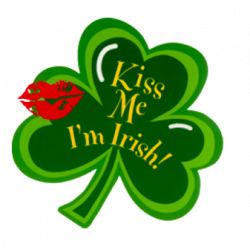 Irish clipart kiss me
