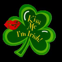 Irish clipart kiss me