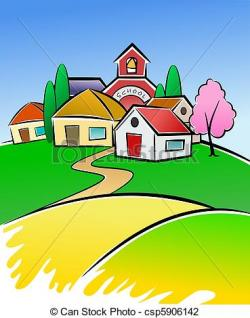 Small clipart village