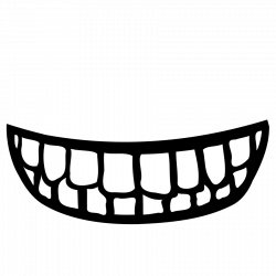 Grin clipart black and white