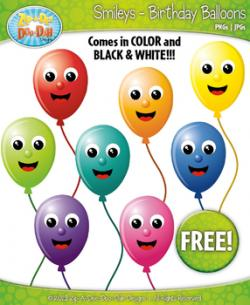 Smileys clipart balloon