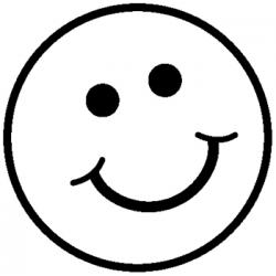 Smileys clipart black and white
