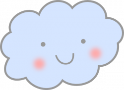 Cloud clipart smiling cloud