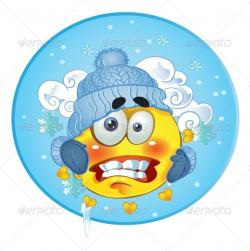 Frozen clipart emoticon