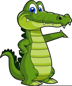 Sad clipart alligator