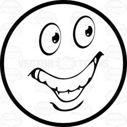 Grin clipart excited