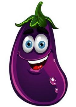 Eggplant clipart cute