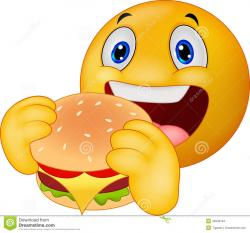 Smiley clipart hamburger