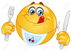 Smileys clipart hungry