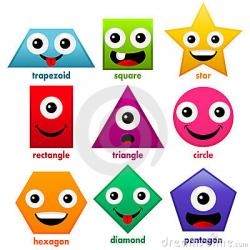 Smileys clipart shapes