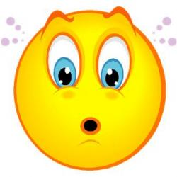 Smiley clipart surprised