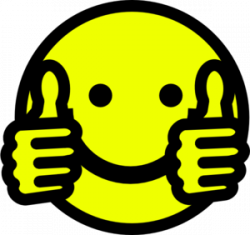 Grin clipart thumbs up
