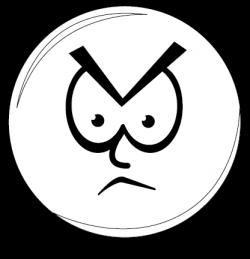 Anger clipart black and white