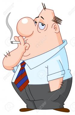 Illustration clipart man smoking