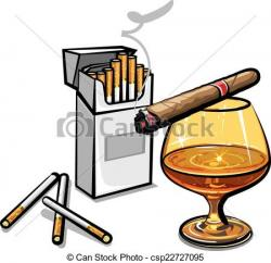 Smoking clipart alcohol