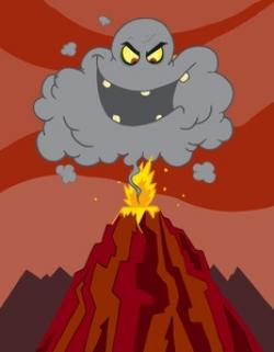 Volcano clipart anger