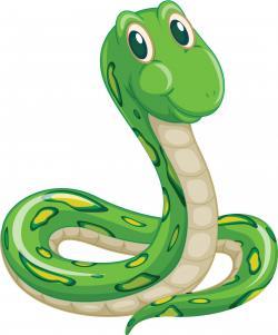Smooth Green Snake clipart binatang
