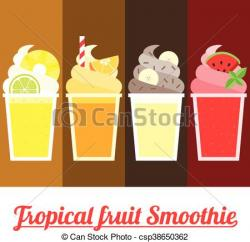 Smoothie clipart tropical drink