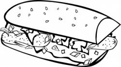 Meatloaf clipart black and white