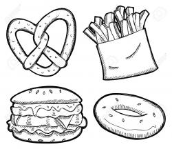 Bagel clipart black and white