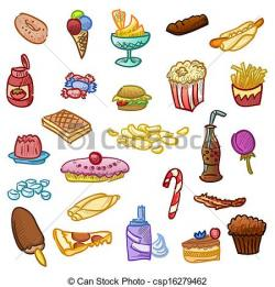 Hamburger clipart unhealthy food