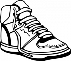 Nike clipart black and white