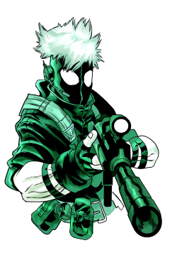 Drawn snipers anime guy