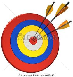 Snipers clipart arrow target