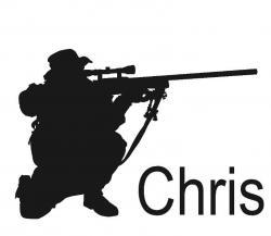 Sniper clipart silhouette