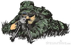 Sniper clipart military
