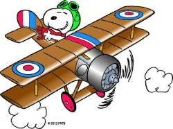 Snoopy clipart airplane