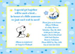 Snoopy clipart baby shower