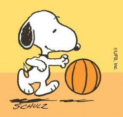 Snoopy clipart basketball