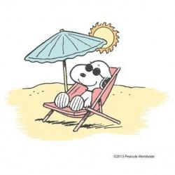 Snoopy clipart beach