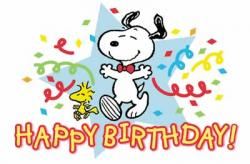 Snoopy clipart birthday