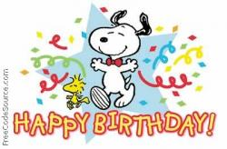 Snoopy clipart cake