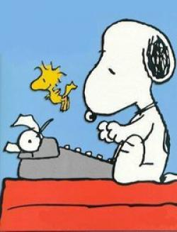 Snoopy clipart computer