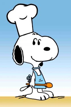 Snoopy clipart cooking