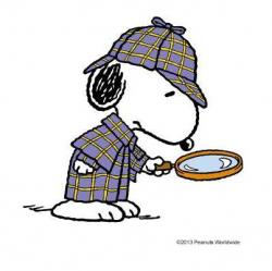 Snoopy clipart detective
