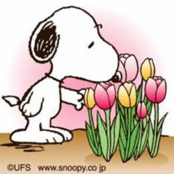 Snoopy clipart flower