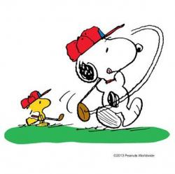 Snoopy clipart golf