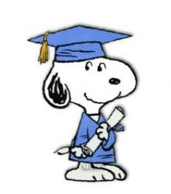 Snoopy clipart graduation
