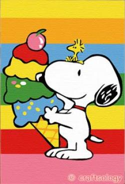 Snoopy clipart ice cream