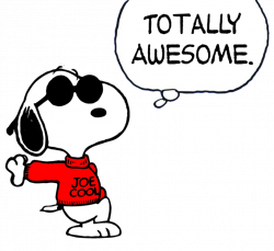 Snoopy clipart joe cool
