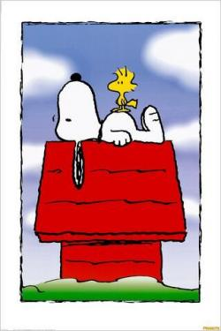 Snoopy clipart roof