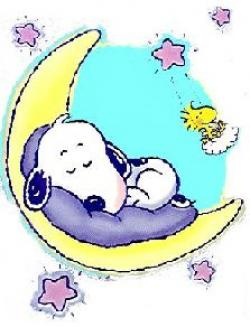 Snoopy clipart sleeping